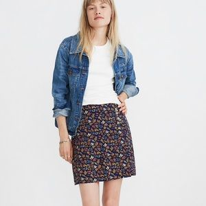 Madewell Side-Button Mini Skirt in Garden Party 2